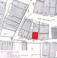 Lageplan, Auszug aus dem Urkataster von 1831/32 / Wohn- und Geschäftshaus in 71522 Backnang
