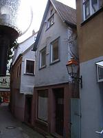 Giebelansicht Zollgasse / ehem. Wohnhaus in 97877 Wertheim (04.01.2008)