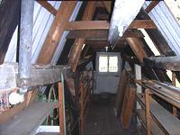 Spitzboden Dachkonstruktion / ehem. Wohnhaus in 97877 Wertheim (04.01.2008)