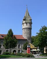 Ravensburg, Grüner Turm, gesehen vom Frauentorplatz  / Grüner Turm in 88212 Ravensburg (02.03.2016 - Andreas Praefcke)