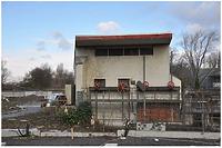 """Gesamtansicht von Süden / Wasserkraftwerk """"Hagenbucher"""" in 74072 Heilbronn (01.02.2015 - sterbewerk.)"""