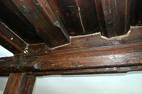 OG. Bretterbalkendecke des Bohlenstübchens. / Wohnhaus in 88682 Salem-Neufrach (28.05.2015)