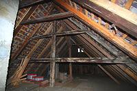 2.DG. Bauzeitlicher Querbund, verblattete Riegel. / Wohnhaus in 88682 Salem-Neufrach (05.06.2015)