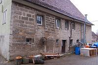 Hofansicht im Westen / Gasthaus zum Lamm in 74532 Illshofen, Großallmerspann (07.02.2007)