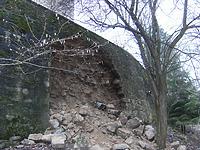 Mauereinsturz Februar 2011  / Schloss Rechenberg in 74597 Stimpfach, Schwäbisch Hall (12.02.2011)
