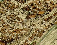 Ausschnitt aus Augenscheinkarte 1577 / Aiperturm, Ehemaliges Stadttor in 74354 Besigheim (HStA Stuttgart)