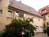 """Hinterhaus, Ansicht vom Ortsgang / Wohn- und Geschäftshaus, ehemaliges """"Café Lauster"""" in 74354 Besigheim (27.07.2007 - Denkmalpflegerischer Werteplan)"""