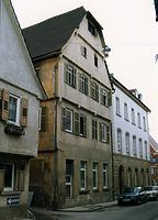 Aufnahme nach dem Brand 1991 / Wohn- und Geschäftshaus in 74354 Besigheim (06.06.1991 - Archiv Haußmann)