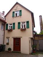 Ansicht von Osten / Wohnhaus in 74354 Besigheim (12.11.2007 - Denkmalpflegerischer Werteplan, Gesamtanlage Besigheim, Regierungspräsidium Stuttgart)
