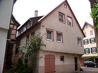 Ansicht von Osten / Wohnhaus in 74354 Besigheim (02.07.2007 - Denkmalpflegerischer Werteplan, Gesamtanlage Besigheim, Regierungspräsidium Stuttgart)
