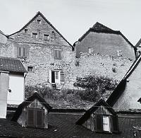 Ansicht von Westen (von der Mühlgasse), links Wohnhaus, rechts Scheuer / Wohnhaus in 74354 Besigheim (Stadtarchiv Besigheim)