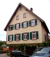 Ansicht von Osten / Wohnhaus in 74354 Besigheim (23.06.2016 - Denkmalpflegerischer Werteplan, Gesamtanlage Besigheim, Regierungspräsidium Stuttgart)