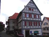Ansicht von Nordwest / Wohn- und Geschäftshaus in 74354 Besigheim (12.07.2007 - Denkmalpflegerischer Werteplan, Gesamtanlage Besigheim, Regierungspräsidium Stuttgart)