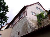Ansicht von Südwest, von der Mühlgasse aus gesehen / Wohnhaus in 74354 Besigheim (12.07.2007 - Denkmalpflegerischer Werteplan, Gesamtanlage Besigheim, Regierungspräsidium Stuttgart)