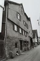 (historische) Ansicht von Westen / Wohnhaus, ehemals Wohnhaus und Scheuer in 74354 Besigheim (27.05.2014 - Stadtarchiv Besigheim)