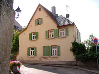 Ansicht von Nordwest / Wohnhaus in 74354 Besigheim (12.07.2007 - Denkmalpflegerischer Werteplan, Gesamtanlage Besigheim, Regierungspräsidium Stuttgart)