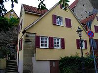 Ansicht von Südost / Wohnhaus in 74354 Besigheim (02.07.2007 - Denkmalpflegerischer Werteplan, Gesamtanlage Besigheim, Regierungspräsidium Stuttgart)