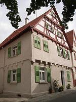 Ansicht von Südwest / Wohnhaus in 74354 Besigheim (27.07.2007 - Denkmalpflegerischer Werteplan, Gesamtanlage Besigheim, Regierungspräsidium Stuttgart)