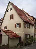 Bühl 9/1 / Wohnhaus und Scheuer in 74354 Besigheim (Denkmalpflegerischer Werteplan,  Gesamtanlage Besigheim  Regierungspräsidium Stuttgart)