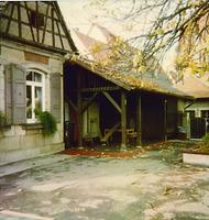 Hof und Spielplatz um 1960 / Kindergarten im Bühl in 74354 Besigheim (Ev. Oberkirchenrat Stuttgart Bau u. Gemeindeaufsicht)