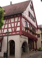 Ansicht von Westen / Wohn- und Geschäftshaus in 74354 Besigheim (Denkmalpflegerischer Werteplan, Gesamtanlage Besigheim, Regierungspräsidium Stuttgart)
