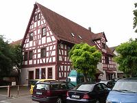 Ansicht von Nord / Wohn- und Geschäftshaus in 74354 Besigheim (Denkmalpflegerischer Werteplan, Gesamtanlage Besigheim, Regierungspräsidium Stuttgart)
