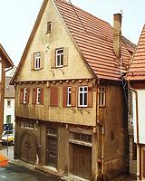 (historische) Ansicht von Süden / Wohn- und Geschäftshaus in 74354 Besigheim (20.08.2014 - Stadtarchiv Besigheim)
