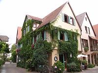 Ansicht von Süden / Wohn- und Geschäftshaus in 74354 Besigheim (04.07.2016 - Denkmalpflegerischer Werteplan, Gesamtanlage Besigheim, Regierungspräsidium Stuttgart)