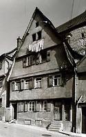 Westseite  vor 1956 / Abgegangenes Wohnhaus in 74354 Besigheim (Stadtarchiv Besigheim)