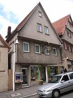 Ansicht von Osten / Wohn- und Geschäftshaus in 74354 Besigheim (Denkmalpflegerischer Werteplan, Gesamtanlage Besigheim, Regierungspräsidium Stuttgart)