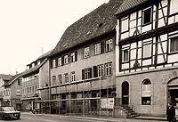 Südwestseite vor dem Abbruch / Wohn- und Geschäftshaus in 74354 Besigheim (Stadtarchiv Besigheim)
