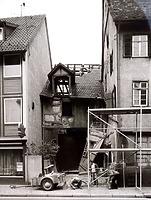 Abbruch der Scheuer hinter Gebäude Hauptsraße 16 / Wohn- und Geschäftshaus in 74354 Besigheim (Stadtarchiv Besigheim)