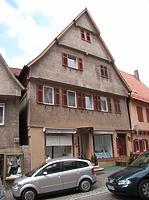 Ostseite / Wohn- und Geschäftshaus in 74354 Besigheim (Denkmalpflegerischer Werteplan,  Gesamtanlage Besigheim  Regierungspräsidium Stuttgart)