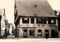 Ansicht von Westen  nach 1877 / Wohn- und Geschäftshaus in 74354 Besigheim (Stadtarchiv Besigheim)