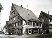Ansicht von Nord- West  / Wohn- und Geschäftshaus in 74354 Besigheim (Stadtarchiv Besigheim)