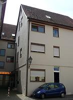 Rückseite des Neubaus an der Stelle einer Scheune / Wohn- und Geschäftshaus in 74354 Besigheim (16.07.2016 - M.Haußmann)