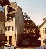 Scheune hinter Hauptstraße 25  / Abgegangene Scheune  in 74354 Besigheim (17.07.1985 - M.Haußmann)