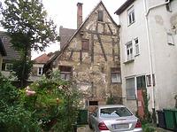Scheune hinter Hauptstraße 28 / Wohn- und Geschäftshaus in 74354 Besigheim (Denkmalpflegerischer Werteplan,  Gesamtanlage Besigheim  Regierungspräsidium Stuttgart)