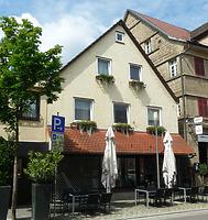 Ansicht von Osten / Wohn- und Geschäftshaus in 74354 Besigheim (16.07.2016 - M. Haußmann)