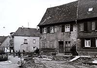 Historische Aufnahme 1965 vor dem Abbruch / Abgegangenes Wohnhaus in 74354 Besigheim (Stadtarchiv Besigheim)