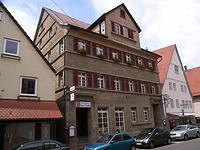 Ansicht von Westen / Wohnhaus mit Gastwirtschaft in 74354 Besigheim (Denkmalpflegerischer Werteplan, Gesamtanlage Besigheim, Regierungspräsidium Stuttgart)
