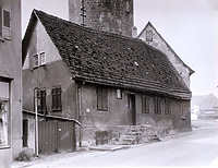 Ansicht von Norden vor dem Abbruch / Abgegangenes Wohnhaus in 74354 Besigheim (Stadtarchiv Besigheim)