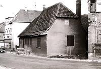 Ansicht von Westen vor dem Abbruch / Abgegangenes Wohnhaus in 74354 Besigheim (Stadtarchiv Besigheim)