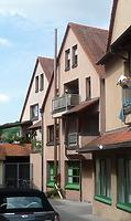 Heutiges Gebäude Hauptstraße 49 Süd- Ostseite an Stelle des Gebäudes 45 / Abgegangenes Ackerbürgerhaus, heute Wohnhaus  in 74354 Besigheim (22.07.2016 - M.Haußmann)