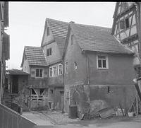 Gebäude 45 vor dem Abriss 1982 / Abgegangenes Ackerbürgerhaus, heute Wohnhaus  in 74354 Besigheim (22.07.1982 - M.Haußmann)
