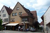 Nord- Ostseite  erbaut 1982 / Wohn- und Geschäftshaus, abgegangenes Wohnhaus in 74354 Besigheim (16.07.2016 - M.Haußmann)