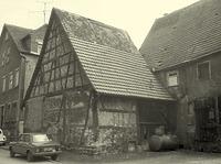 Ehemalige Scheuer Hauptstraße 53 kurz vor dem Abbruch / Abgegangene Scheune in 74354 Besigheim (31.07.1982 - M.Haußmann)