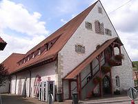 Südostseite nach dem Umbau 1989 / Stadthalle Alte Kelter  in 74354 Besigheim (Denkmalpflegerischer Werteplan,  Gesamtanlage Besigheim  Regierungspräsidium Stuttgart)