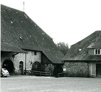 """Westlicher Teil der Kelter Hauptstraße 59 """"Kleine Kelter"""" oder """"Zehntscheuer"""" vor 1959 / Stadthalle Alte Kelter  in 74354 Besigheim (Stadtarchiv Besigheim)"""
