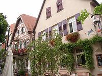 """Nordostseite / Wohn- und Gasthaus """"Hirsch"""" in 74354 Besigheim (Denkmalpflegerischer Werteplan,  Gesamtanlage Besigheim  Regierungspräsidium Stuttgart)"""